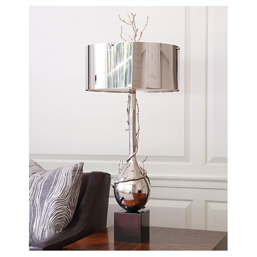 """Global Views Twig 40"""" H Table Lamp with Drum Shade"""