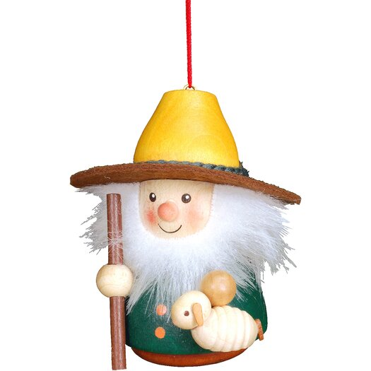 Christian Ulbricht Shepherd and Sheep Ornament