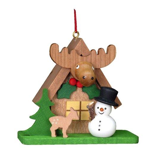 Alexander Taron Christian Ulbricht Tiny Snowman with an ELK Ornament