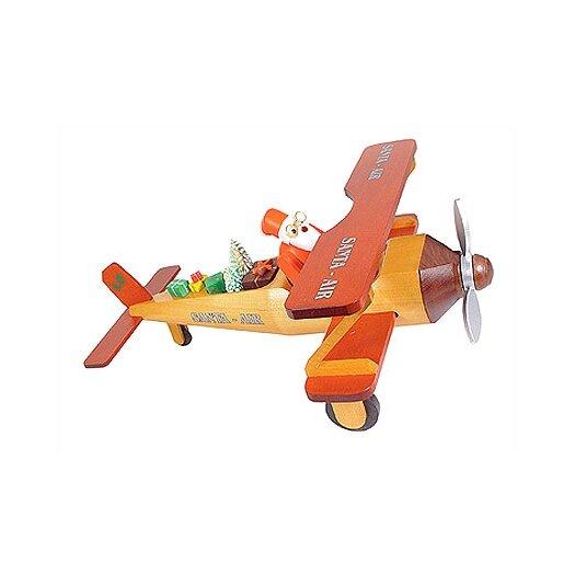 Richard Glaesser Santa in Bi-plane Incense Burner