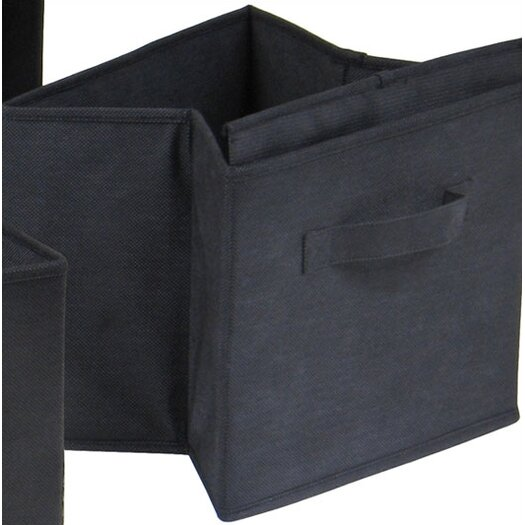 Winsome Capri Foldable Fabric Storage Basket in Black