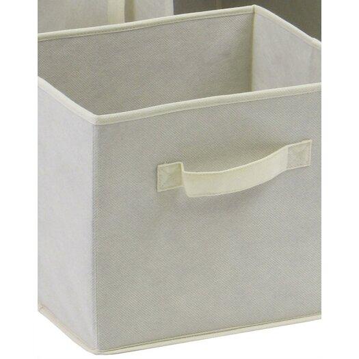Winsome Capri Foldable Fabric Baskets in Beige