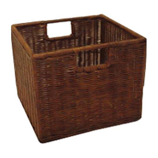 Winsome Espresso Wicker Basket