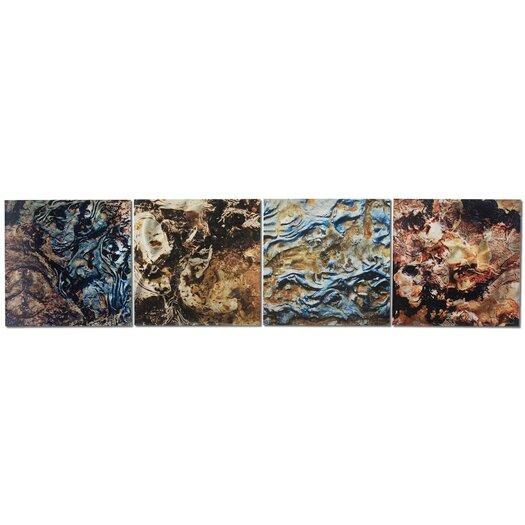 Metal Art Studio Mother Earth 4 Piece Graphic Art Plaque Set