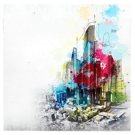 Metal Art Studio Urban Cityscape Graphic Art Plaque