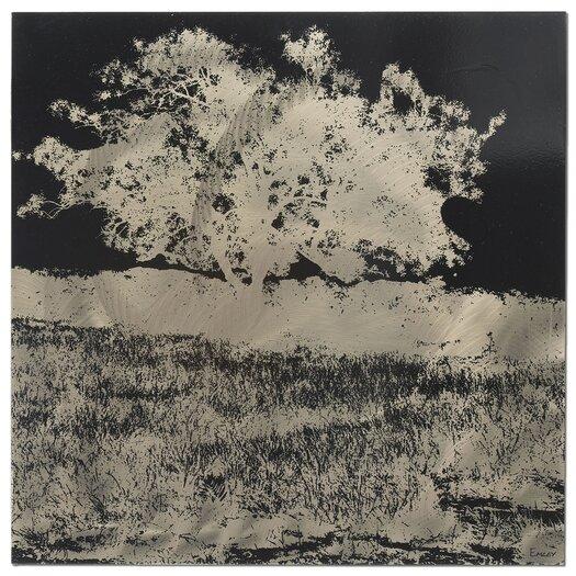 Metal Art Studio Tree Painting Print Plaque