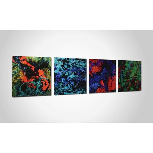 Metal Art Studio Bright Lights 4 Piece Graphic Art Plaque Set