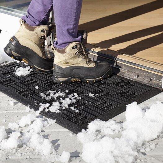 Entryways Scraper Squares Recycled Rubber Doormat