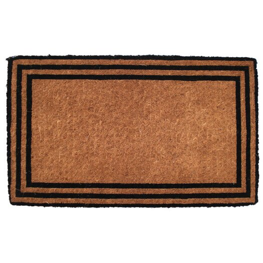 Entryways Handwoven Extra Thick the One with the Border Coconut Fiber Doormat