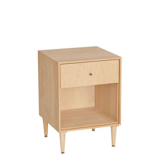 Urbangreen Furniture Midcentury 1 Drawer Nightstand