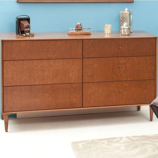 Urbangreen Furniture Midcentury 6 Drawer Dresser