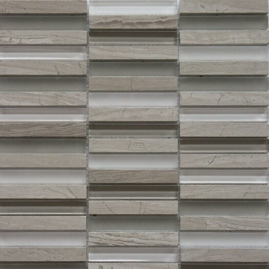 Faber Opus Series Mixed Glass and Marble Mosaic in Escarpment