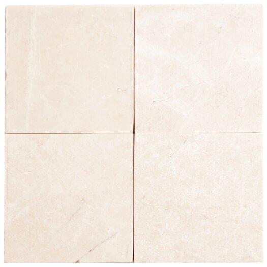 "Faber Alara Crema 4"" x 4"" Marble Mosaic in Beige"