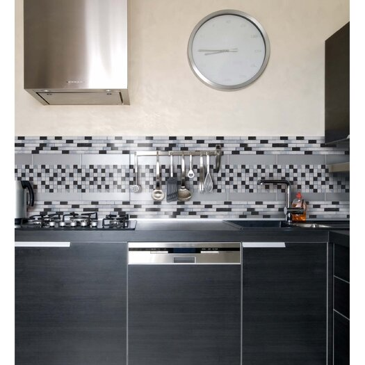 """Faber Cool Mix Blend 2"""" x 2"""" Marble Mesh-Mounted Mosaic in Multi"""
