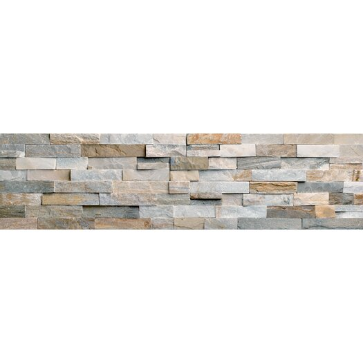 Faber Beach Ledge Stone Split Face Random Sized Wall Cladding Tile in Multi Color