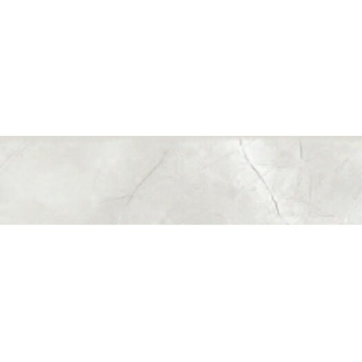 "Faber Classic High Definition 12"" x 3"" Bullnose Tile Trim in White"
