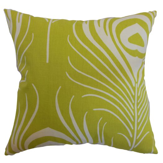 The Pillow Collection Lamassa Peacock Cotton Pillow
