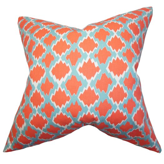 The Pillow Collection Welcome Geometric Throw Pillow