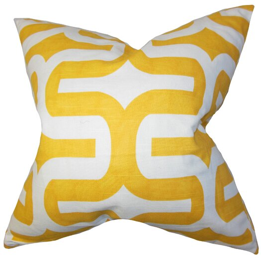 The Pillow Collection Jaslene Geometric Throw Pillow