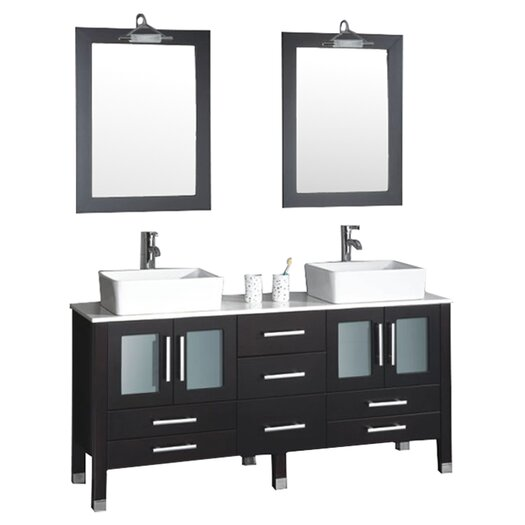 "Cambridge Plumbing Grand Aspen 71"" Bathroom Vanity Set"