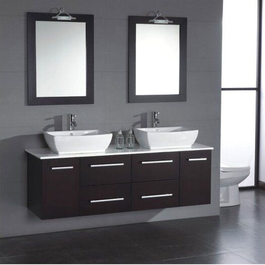 "Cambridge Plumbing Poplar 62"" Double Bathroom Vanity Set"