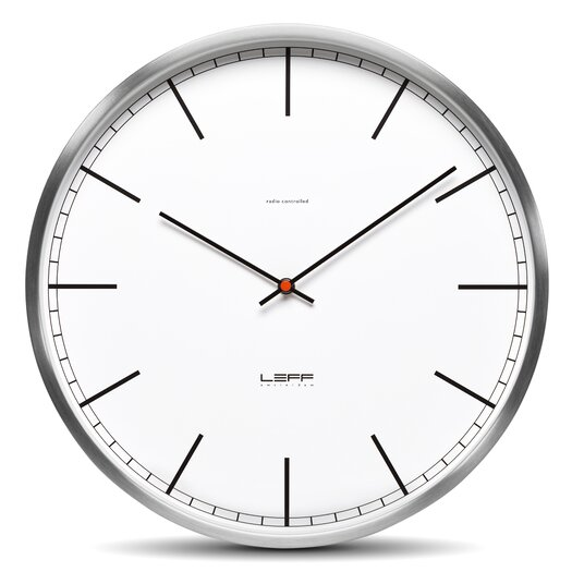 """Leff Amsterdam One35 13.78"""" Stainless Steel Wall Clock"""