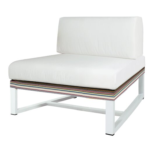 Stripe Sectional Seat with Cushion