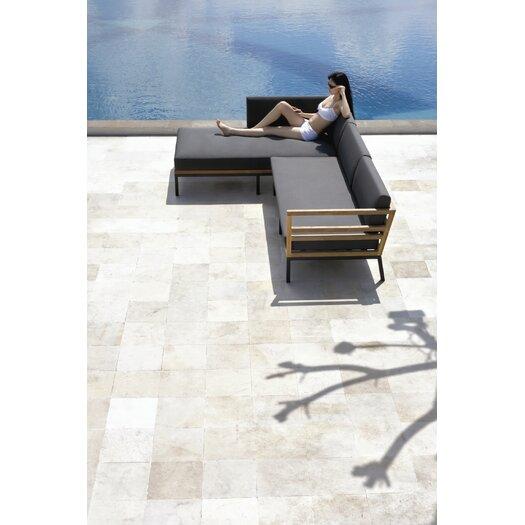 Mamagreen Zudu Asymmetrical Corner Sofa with Cushion in Coal