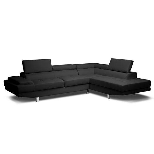 Wholesale Interiors Baxton Studio Selma Leather Modern Sectional Sofa