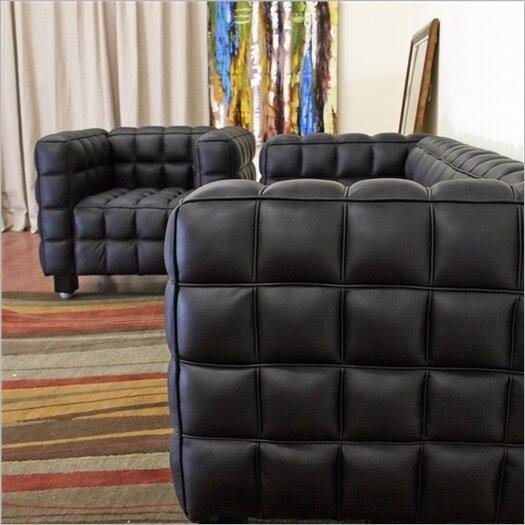 Wholesale Interiors Baxton Studio 2 Piece Arriga Leather Modern Sofa Set