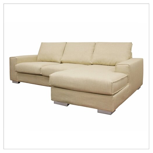 Wholesale Interiors Baxton Studio Campbell Twill Sectional