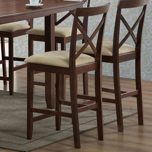 "Wholesale Interiors Baxton Studio Natalie Modern 25.13"" Bar Stool (Set of 2)"