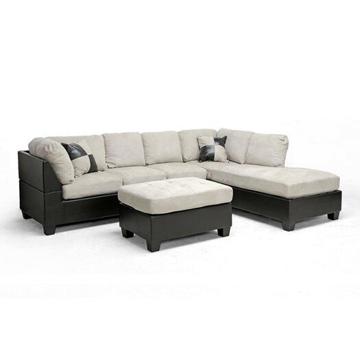 Wholesale Interiors Baxton Studio Mancini Right Sectional