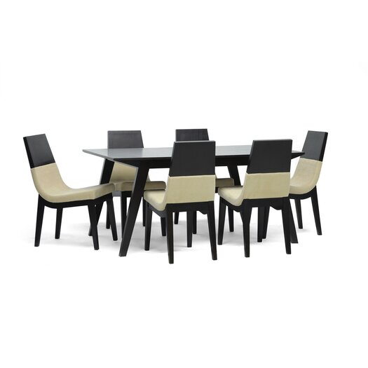 Wholesale Interiors Baxton Studio Prezna 7 Piece Dining Set