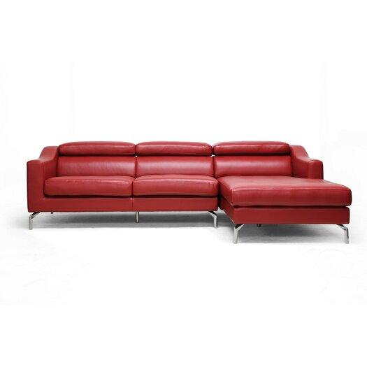 Wholesale Interiors Baxton Studio Levi Leather Sectional