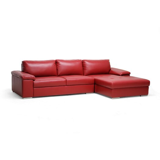 Wholesale Interiors Baxton Studio Dawson Leather Sectional