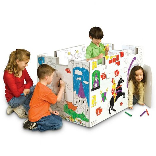 My Very Own House Castle Playhouse with Washable Markers
