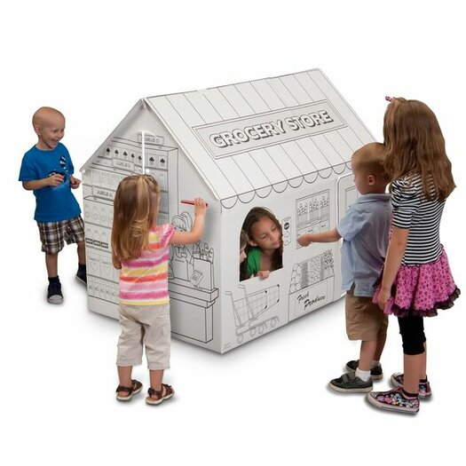 My Very Own House Grocery Playhouse with Washable Markers