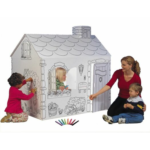 My Very Own House Cottage Playhouse with Washable Markers