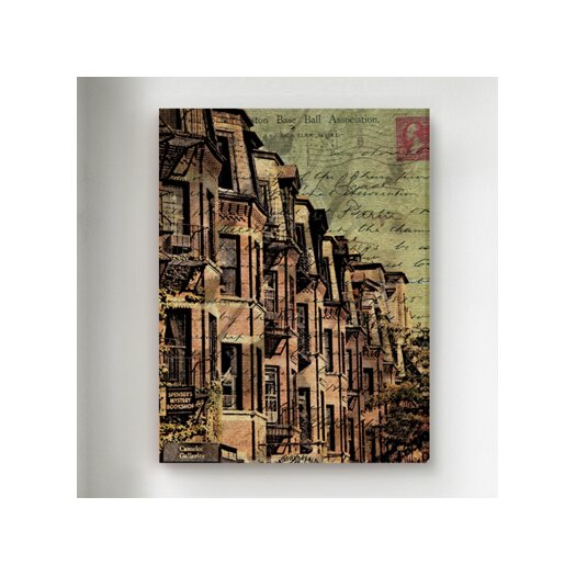 """Oliver Gal """"Boston Brownstone"""" Graphic Art on Canvas"""