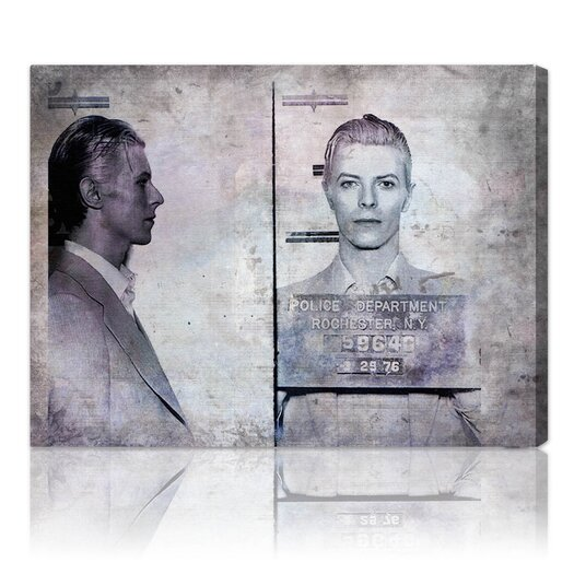 Oliver Gal ''David Bowie Mugshot'' Graphic Art on Canvas