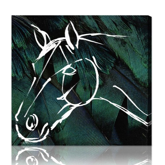 Oliver Gal ''Horse'' Graphic Art on Canvas