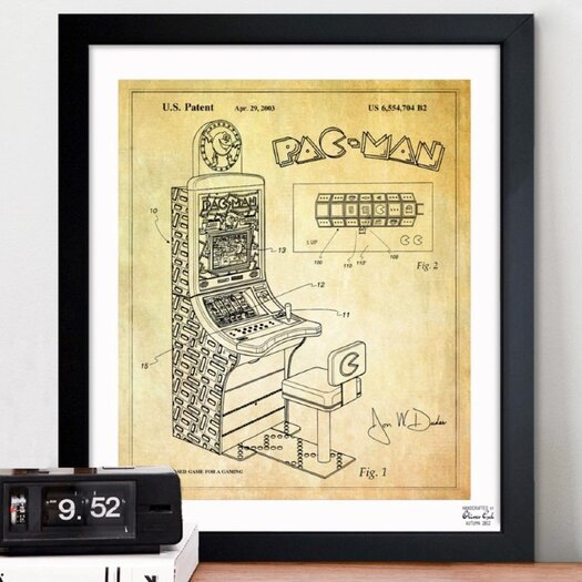 Oliver Gal Maze Based Game 2003 Framed Graphic Art