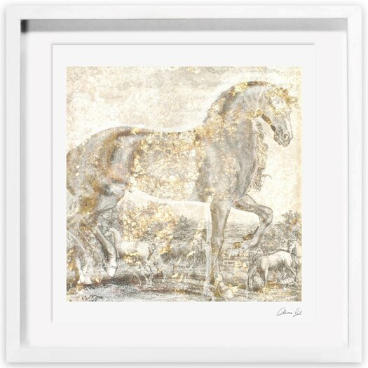 Brilliant Equestrian Framed Painting Print