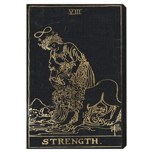 Strength Tarot Graphic Art on Wrapped Canvas