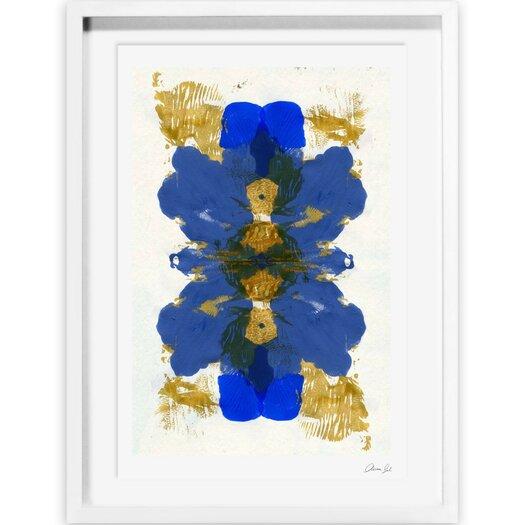 Cumbia Azul Framed Painting Print