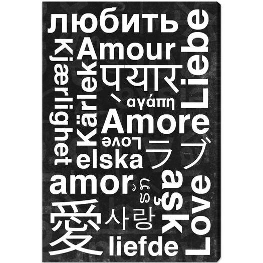 Worldwide Love Textual Art on Canvas