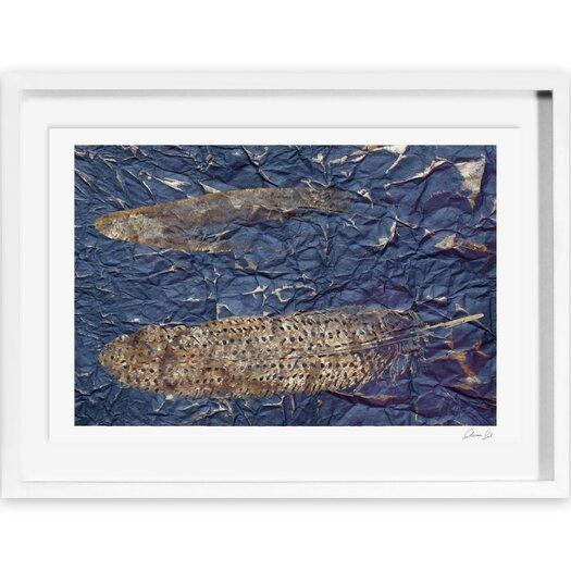 Guinea Blue Framed Painting Print