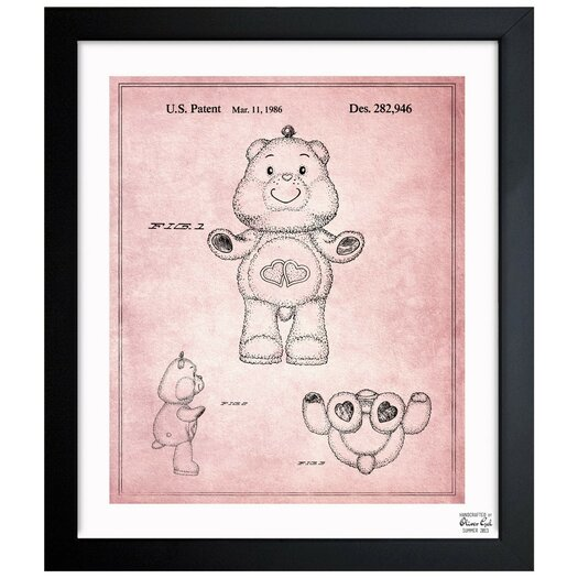 Carebears -�Love a Lot Bear 1986 Framed Painting Print