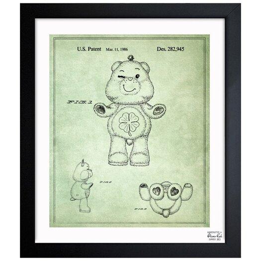 Carebears - Good Luck Bear 1986 Framed Painting Print